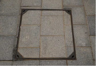 hidden square manhole cap