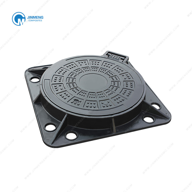600mm SMC Round Sewer Manhole Cover with Lock